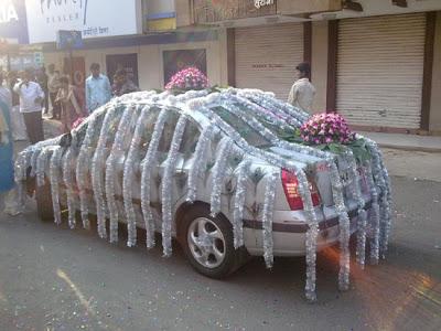 Праздничное украшение авто